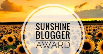 sunsine blogger award 2020