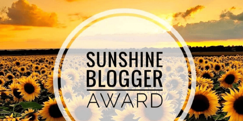 sunsine blogger award 2020