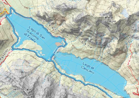 giro dei laghi di cancano mappa