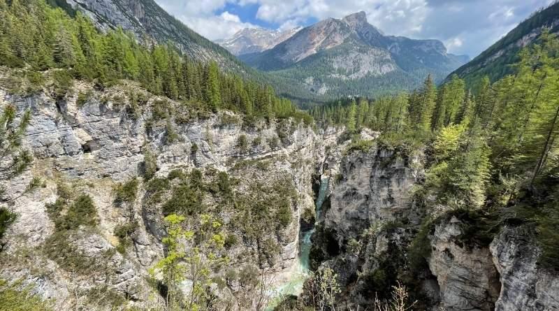 cascate di Fanes e sentiero dei canyon